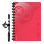 WHYNOTE® A5 ROUGE - Bloc-Notes pages blanches / Réutilisable à l'infini