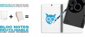 Whynote A5 - Bloc note reutilisable