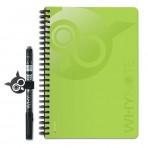 WHYNOTE® A5 VERT - Bloc-Notes pages lignée / Réutilisable à l'infini