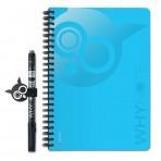 WHYNOTE® A5 BLEU - Bloc-Notes pages lignée / Réutilisable à l'infini