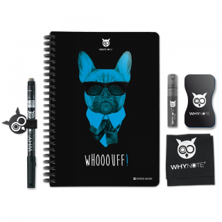 Whynote A5 - Bloc note reutilisable starter pack bulldog