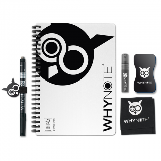 Whynote A5 - Bloc note reutilisable starter pack white