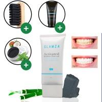 Glamza - Dentifrice + brosse + poudre + masque point noir