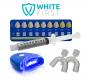 Blanchiment dentaire goût menthe avec lampe WHITE FIRST