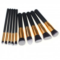10 Pinceaux Noir & Gold
