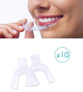 Paire de gouttière thermoformable pour soins et blanchiment dentaire