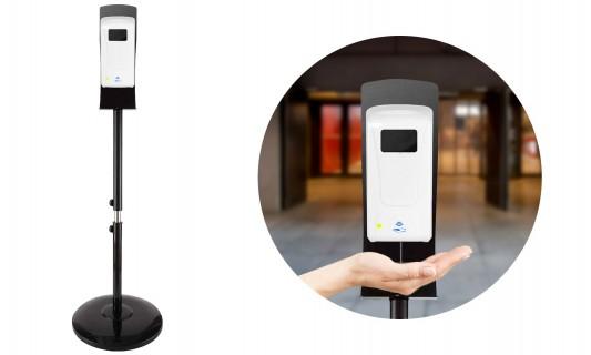 Distributeur de gel automatique sur pied
