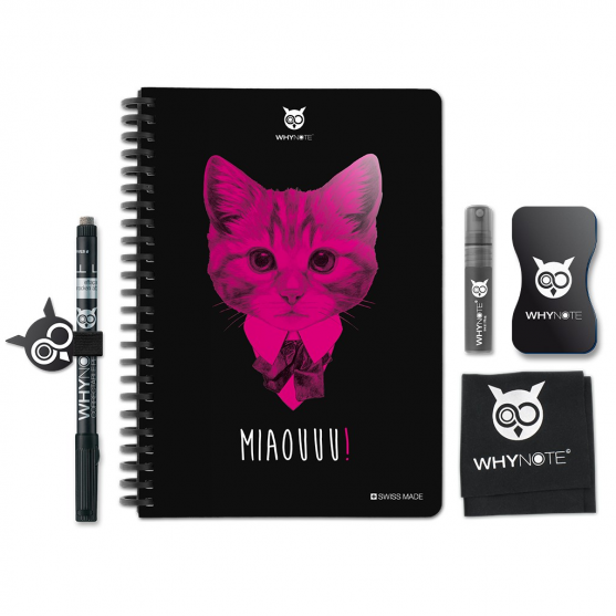 Whynote A5 - Bloc note reutilisable starter pack chat