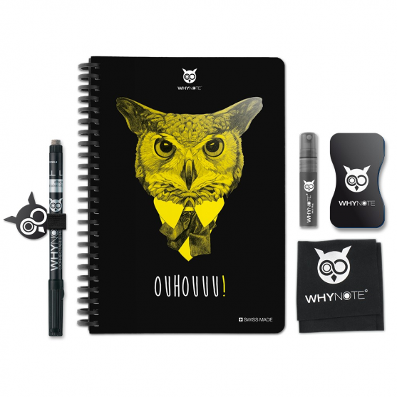 Whynote A5 - Bloc note reutilisable starter pack hibou