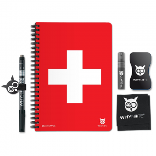 Whynote A5 - Bloc note reutilisable starter pack swiss