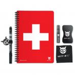 WHYNOTE® A5 STARTER PACK SWISS - Bloc-notes effaçable / Réutilisable à l'infini