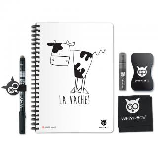 Whynote A5 - Bloc note reutilisable starter pack LAVACHE