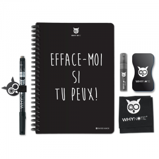 Whynote A5 - Bloc note reutilisable starter pack effacemoi