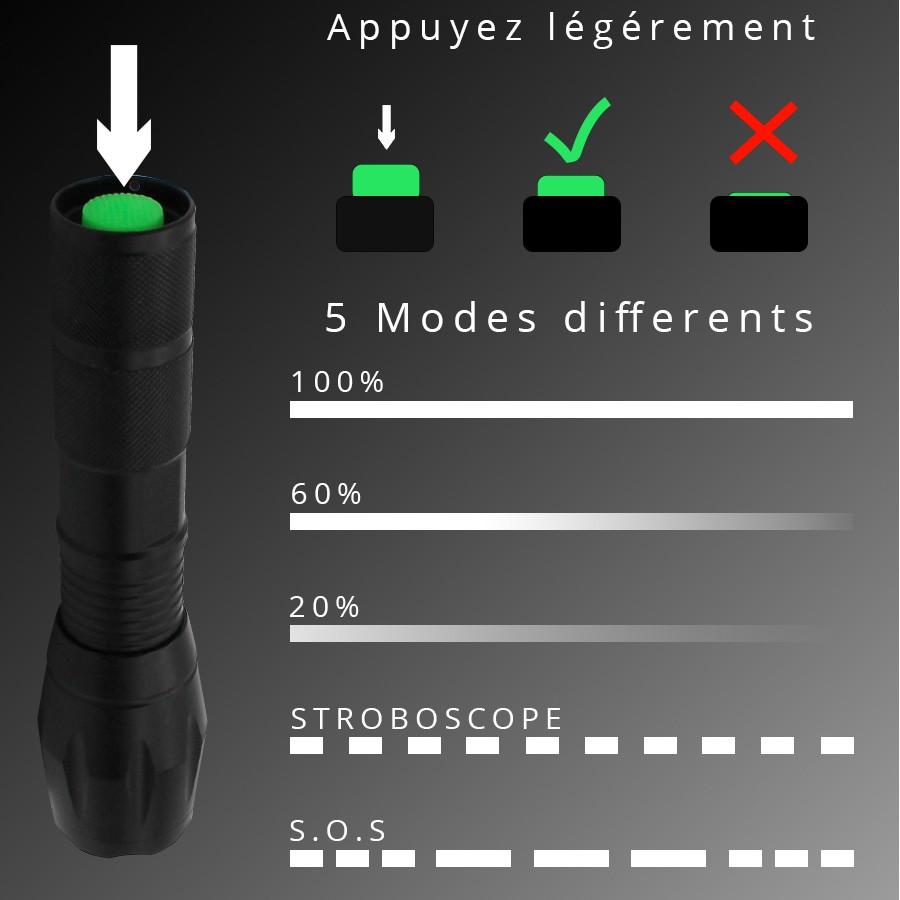 Torche Lampe Pour Led Multifonction Bravo Alfred Modes 5 – pSUqzMV
